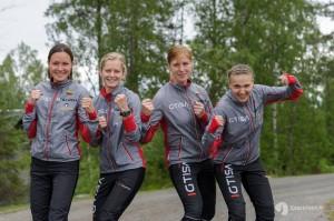 Moterų komanda Venla estafetėje